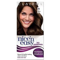 Nicen Easy No-Ammonia Shade 75 Light Ash Brown Hair Colour