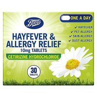 Boots Hayfever & Allergy Relief 30 day supply - One a Day
