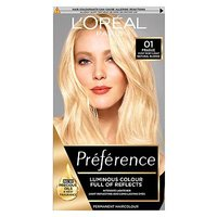 Preference 01 Lightest Natural Blonde  Permanent Hair Dye
