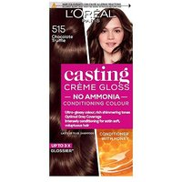 LOreal Paris Casting Creme Gloss Semi-Permanent Hair Dye, Brown Hair Dye 515 Choc Truffle
