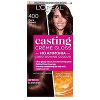 Image of L'Oreal Casting Creme Gloss 400 Dark Brown Semi Permanent Hair Dye