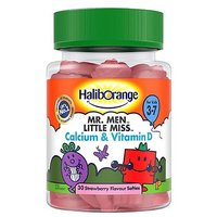Mr  Men Little Miss Calcium   Vitamin D Strawberry Softies with sweetener   30