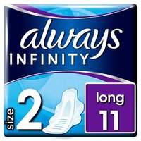 Always Infinity Long (Size 2) Wings Sanitary Towels 11 Pads