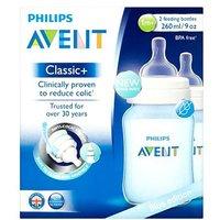 'Philips Avent Blue Edition Classic+ 2 Feeding Bottles 1m+260ml