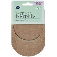 Boots Cotton Footsies Antibacterial Finish 2 Pairs