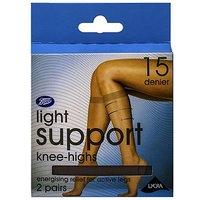 Boots Light Support Knee High Natural Tan