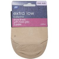 Boots Ballerina Shoe Liners Nude (2 Pack)