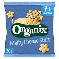 'Organix Melty Organic Cheese Stars Baby Finger Food Snacks 20g