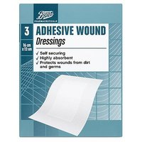 Boots Pharmaceuticals Adhesive Wound Dressings - 3 Dressings (16 X 12cm)
