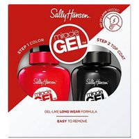 Sally Hansen Miracle Gel Nail Polish and Top Coat Duo Red Eye