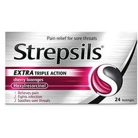 Strepsils Extra Triple Action Cherry Lozenges - 24 lozenges