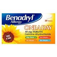 Benadryl Allergy One a day 10mg   30 Tablets