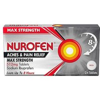 Nurofen Max Strength Joint and Back Pain Relief 512mg - 24 Tablets