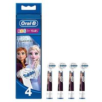 Oral B Kids Replacement Electric Toothbrush Heads Featuring Disney Frozen Characters 4 pack
