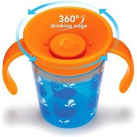 Munchkin 6oz Miracle 360 Deco Trainer Cup Blue Whale
