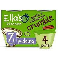 Ellas Kitchen Organic Apple + Cinnamon Crumble Multipack Pot 7+ Mths 4 x 80g
