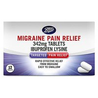 Boots Migraine Pain Relief 342mg Tablets - 12 Tablets