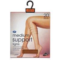 Boots Medium Support Tights Nat Tan