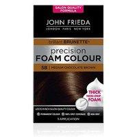 John Frieda Precision Foam Colour 5B Medium Chocolate Brown Permanent Hair Dye 130ml