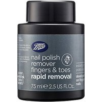 Boots Rapid Removal Nail Polish Remover Fingers And Toes Pot 75ml