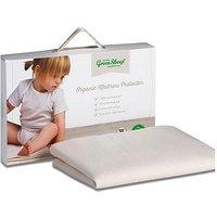 'The Little Green Sheep Organic Mattress Protector Large Crib 83x50cm
