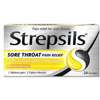 Strepsils Sore Throat Pain Relief Honey and Lemon Flavour - 24 lozenges