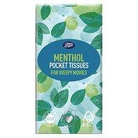 Boots Menthol Pocket Tissue 10s