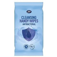 Boots Cleansing Handy Wipes Anti-bacterial 40s