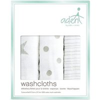 aden by aden + anais Muslin Washcloths 3 Pack -  Dusty