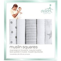 aden by aden + anais Muslin Square 5 Pack - Dusty