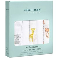 aden by aden + anais Muslin Square 5 Pack - Safari Babies