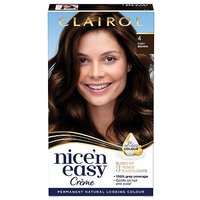 Clairol Nice n Easy Permanent Hair Dye 4 Dark Brown