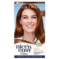 Image of Clairol Nice'n Easy Crme Oil Infused Permanent Hair Dye 5WR Medium Warm Auburn 177ml
