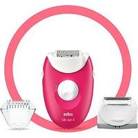 Braun Silk-pil 3 3-410 Epilator Raspberry Pink