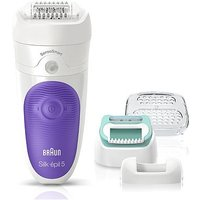 Braun Silk-pil 5 5/880 SensoSmart Epilator Purple - Cordless Wet and Dry Epilation Starter Set with 5 Extras