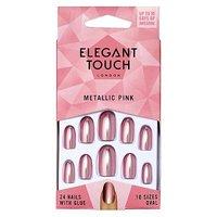 Elegant Touch Core Colour Nails - Metallic Pink