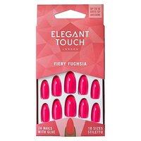 Elegant Touch Core Colour Nails - Fiery Fuschia