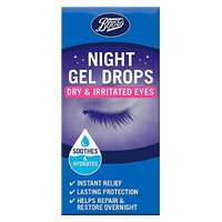 Boots Night Gel Drops - Dry & Irritated Eyes 10ml