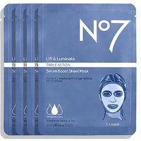 No7 Lift   Luminate TRIPLE ACTION Serum Boost Sheet Masks