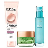 LOreal Paris Combination Skin 3 Step Prep Kit - Cleanse Exfoliate Hydrate