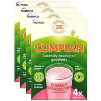 Complan Strawberry Flavour Nutritional Drink - 4 packs (16 x 55g sachets)