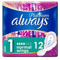 Always Platinum Normal (Size1) Sanitary Towels Wings 12 Pads