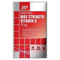 Boots Max Strength Vitamin D 90s