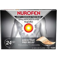 Nurofen Joint and Muscular Pain Relief 200mg Medicated Plaster - 2 Medicated Plasters