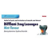 Difflam 3mg Lozenges Mint flavour - 20 Lozenges