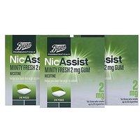 Boots Nicassist Minty Fresh 2 Mg Gum 3 X 210 Pieces Bundle