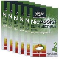 Boots Nicassist Fruit Fresh 2mg Gum- 105 Pieces X 4 Bundle