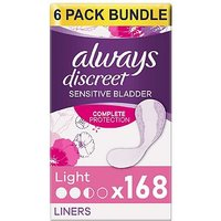 Always Discreet Light Liners - 168 Liners (6 pack bundle)