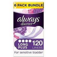 Always Discreet Liners Plus - 120 Liners (6 pack bundle)