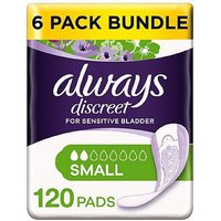 Always Discreet Small Pads - 120 pads (6 pack bundle)